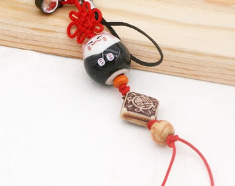 Maneki Neko phone charm/ dust plug (DP)
