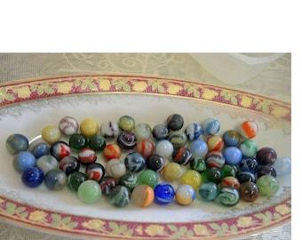 Over 60 Antique Marbles - Destash Collection - REDuCED