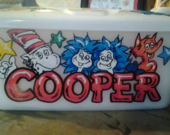 Baby Wipes Large Size Refillable Table Case Personalized Handprinted