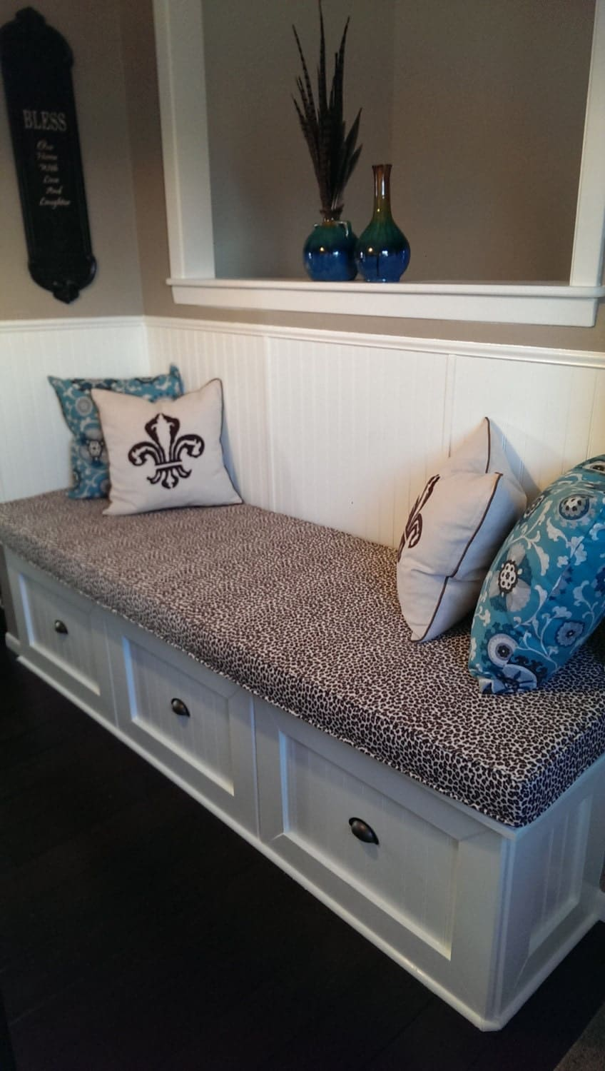 Custom Bench Cushion With Piping