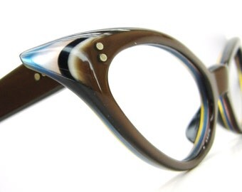 Vintage Winged Cats Eye Eyeglasses Sunglasses Frame France