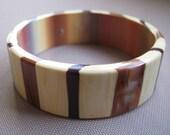 Shades of brown & tan vintage bangle bracelet