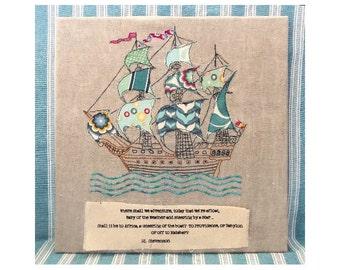 Where shall we Adventure -  Pirate Ship Applique pdf pattern