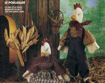 McCalls 5927 UNCUT The Chicken Coop - Rooster Craft Sewing Pattern