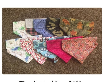 Dog Bandana - Dog Bandanas - Fabric Bandanas - Collar Bandanas - Dog Accessories - Pet Accessories - Chic