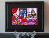 Art Print, Small Framed Print, Interior, Acrylic Display Easel, Living room, Home Decor