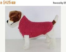 HALF PRICE SALE Chunky Garter Stitch Dog Coat knitting pattern by madmonkeyknits - instant digital pdf download knitting pattern