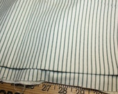 Vintage Green Stripe Cotton Fabric 38 Inch Wide
