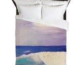 Beach Wave Coastal Duvet Cover from my art. Available in twin,queen and king sizes