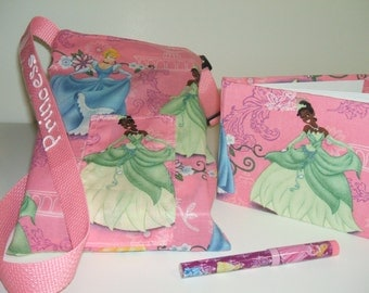 Disney Princess autograph book bag with book and pen PERSONALIZED for FREE adjustable strap