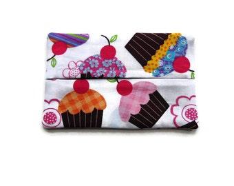 Fabric Tissue Holder, Cupcakes, Cupucake Tissue Holder, Cupcake Gift