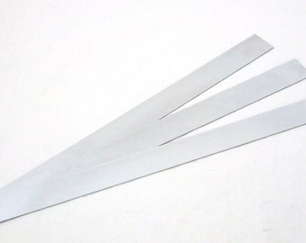 "Stainless Steel Sheet / Bracelet Blanks 26ga 12"" x 1"" Package Of 3"