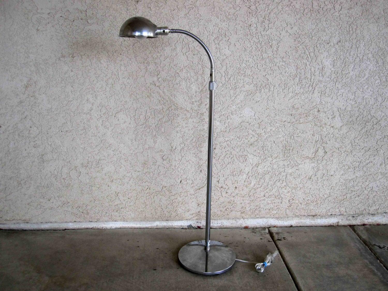 Vintage Chrome Floor Lamp With Gooseneck Stand Circa