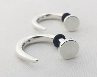 Nails -- 6 gauge earrings