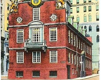 Vintage Boston Postcard - The Old State House (Unused)