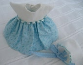"Ginny 8"" Doll Clothes, ""Paula"" Dress and Bonnet"