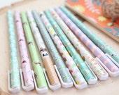 Set of 10 Kawaii Pens for Planners, Journaling, School, Filofax/Kikki K/Erin Condren/Inkwell Pens