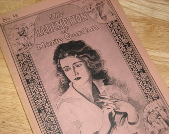 """Vintage  1926 Serial Booklet """"The Redemption of Marie Gordon - The Tragic Story of Wronged Womanhood""""  #58"""