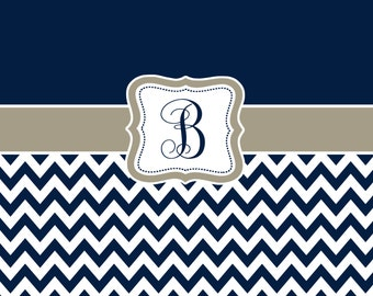 Custom Personalized Chevron and Solid Shower Curtain - your colors
