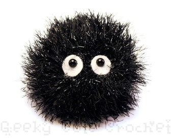 Soot Sprite Crocheted Amigurumi Plush Toy