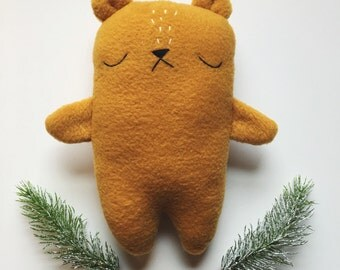 Stuffed bear toy, christmas gift for kids, plush toy bear, teddy bear, bear stuffie, bear plushie
