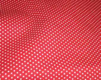 """Country Classic Heavy Weight Cotton Quilt Fabric Red with White Dots 44"""" Wide  By the Half Yard Cotton"""