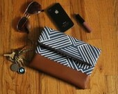 Custom Order for Dorothy ------ Blue Fold Over Clutch Purse with Strap