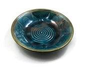 RAVENS Spiral  Bowl Handmade Pottery Ceramic
