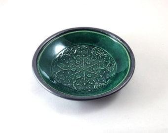 CELTIC Snowflake Offering Bowl Handmade Ceramic Pottery