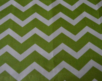 SEE SHOP ANNOUCEMENT - Lime Green/Kiwi Chevron Upholstery/Decorator Fabric - 20 inches x 44 inches