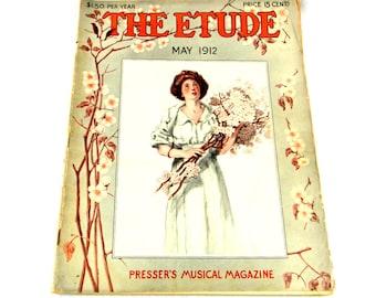 Antique Etude Music Magazine, May 1912