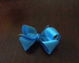 Toddler turquoise grosgrain hairbow