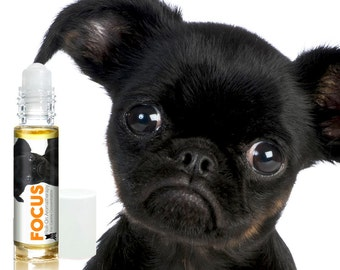 BRUSSELS GRIFFON FOCUS Dog Aromatherapy Roll-On & Spray For Canine Concentration Helps Your Dog Pay Attention Custom Blend of Essential Oils