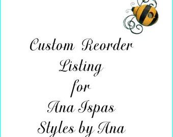 Custom Reorder Listing for Ana Ispas