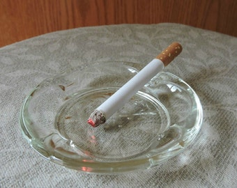 Fake Cigarette and a Glass Ashtray Fun Theatrical Prop Gag April Fools Prank