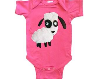 mi cielo x Matthew Langille - Sheep – Raspberry Infant Bodysuit – Boys or Girls