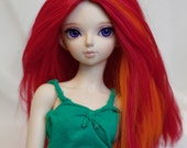 "MSD Viscose fiber Doll Red and Orange Wig 6.75"" 6-7"""