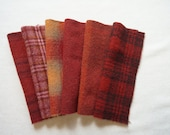 Primitive - Rustic Red - Hand Dyed Felted Wool Fabrics Perfect for Rug Hooking and Applique