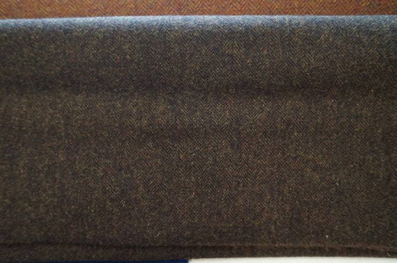 Dark Brown Herringbone- Felted Wool Fabric Yard in Wool Perfect for Rug  Hooking, Applique and Crafts by Quilting Acres