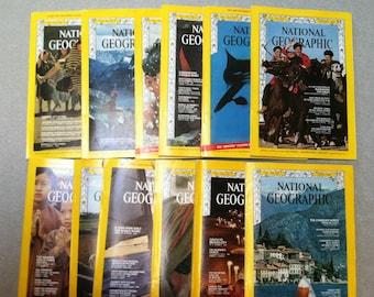 National Geographic 1968 12 Issues Jan.- Dec. ~ Nat Geo ~ Vintage Magazines ~ Vintage Travel Magazines