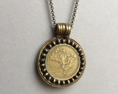 BRAZIL - One of a Kind Brazilian Coin Necklace - Reversible