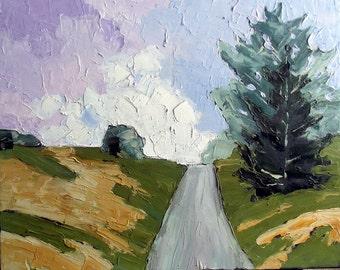 Impressionist Painting Plein Air Landscape Monterey CALIFORNIA Path Lynne French 16x20