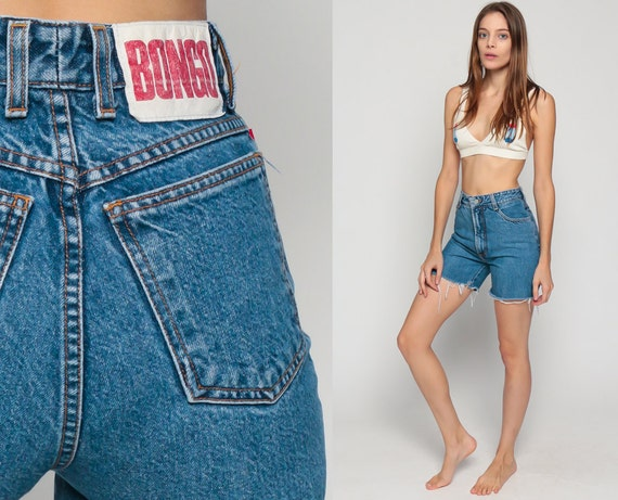 Bongo Shorts Cut Off Shorts 80s Denim Shorts Blue Cutoff xs
