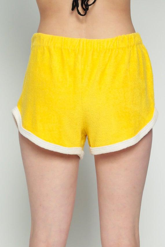 Gym Shorts Terry Cloth Shorts SIX FLAGS 80s Running Shorts