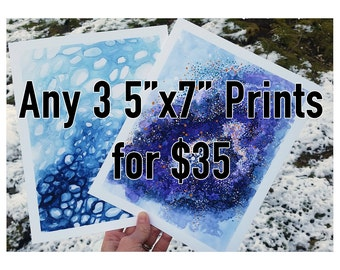 "Set Of Any 3 5x7"" Prints"