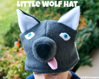 Fleece Little Wolf Baby and Kid's Hat