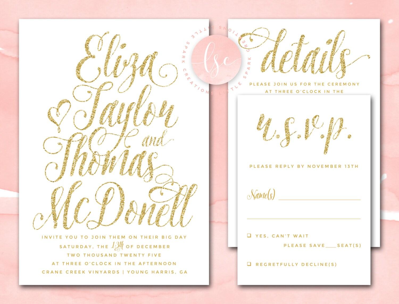 Wedding invitations printable diy wedding invites digital for Digital wedding invitations
