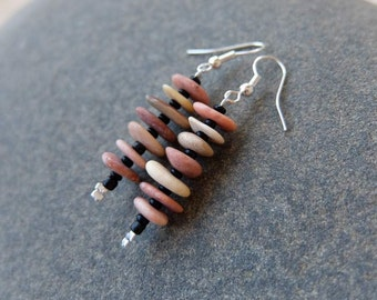 Beach bebble jewelry -  natural stone earrings  - naturally sourced stones from Australia.
