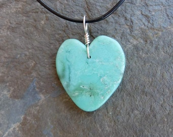Chrysoprase heart pendant necklace -  gentle green gem stone heart necklace