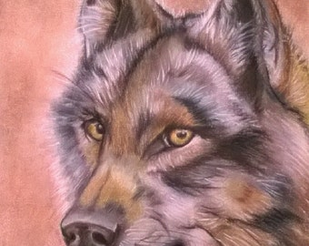 Custom Personalized Animal Portrait Realistic Colorful Painting - Pets Memorial Wild Animals Totem Spirit - For Him For Her- Made To Order